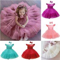 Girl's Dresses 0-6Y Baby Girls Birthday Dress Born Kids Baptism Pink Clothes Toddler Kid Pageant Communion Formal Vestidos Tutus