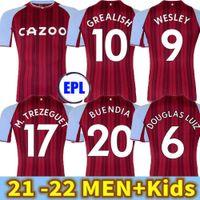 21 22 Aston Home Soccer Jerseys Villa Home 2021 2122 Samatta Targett Grealish Wesley Douglas Luiz McGim El kit Kit Kit Kit de fútbol camisetas Jersey rojo