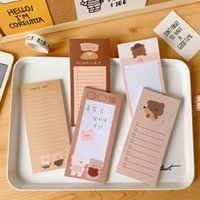Card Holders Ins Biscuit Bear Long Sticky Note Book Cute Cookie Tearable Small Mini Message Memo Pads Notebook Kawaii Stationary