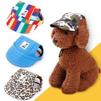Pet Dog Caps Small Puppy Pets Summer Print Cap Baseball Visor Hat Outdoor Accessories Sun Bonnet Chihuahua Apparel