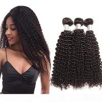 Viya Kinky вьющиеся волосы девственницы Wefts 3 связки натуральные черные камбоджинские ременные волосы плетения волос расширения 10-30 дюймов