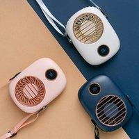 Elektrikli Hayranları Mini Boyun Hung Fan Akıllı Şarj Edilebilir USB Taşınabilir Boyun Bandı Soğutucu Ev Soğutma Instagram Takipçileri