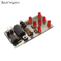 Geïntegreerde schakelingen elektronische dobbelstenen NE555 CD4017 DIY Kit 5 mm rode LED's 4.5-5V ICSK057A plezier