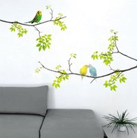 Wall Stickers Creative Animal Cute Sticker Decals Bird On Tree Peel Removable For Kids Baby Bedroom Nursery Room Decoration