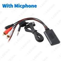 Leewa Universal Car Auto Беспроводное Bluetooth подключение AUX адаптер для стерео с 2 RCA AUX в музыкальном аудио входном беспроводном кабеле # 6196