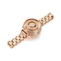 Designer Luxury Brand Watches Original Diamond Women's, Shining Rhinestone Wrist Women's Fashion Simple Quartz Rostfritt stålband