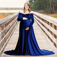 New Pleuche платье для беременных фотография длинные беременности платья Elegence Maxi платье для беременных Фотополон для беременных