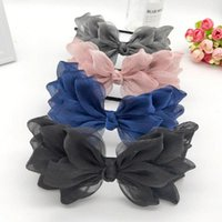 Spitze Seide Bogen Haarbänder Hübsche Haarschmuck für Mädchen Bögen Garn Weben Haarband Bunte Stirnbänder für Frauen