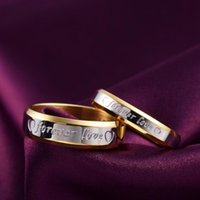Cluster Rings Fine Jewelry 18K Gold Plated Heart Couple For Women Men Size 6 7 8 9 10 Engagement Wedding Girl Student Gifts