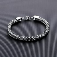 Charm Bracelets Retro Color Men Accessories 316L Stainless Steel Special Fashion Cool Lobster Clasp Bangle Chians Bracelet For Anniversary