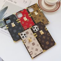 Luxury Design Square TPU Women Case For iPhone 13 12 11 XS XR 8 7 Plus Phone Cases Fashion Anti-fall Protective cover