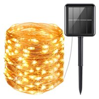 Strings 100M 1000 LED Solar String Lights Christmas Garland Light Outdoor Copper Wire Fairy For Patio Garden Party