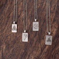 Rune Kolye Viking Norse Sembolleri Vikingler Kadınlar Için Hediye Ruic Takı Zincirleri