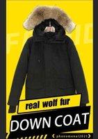 TOP quality Mens Parkas winter down Jacket real wolf Fur Hooded men's Budge Size parka Windbreaker Warm Men Zipper Thick Jackets man's Coats