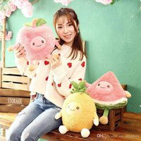 Hot Creative Expression Fruit Watermelon Apple Pineapple Model Doll Simulation Plush Toy For Children Gift Soft Pillow