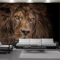 Home Decor 3D Wallpaper HD Mighty Wild Animal Lion Lion Soggiorno camera da letto sfondo decorazione della parete murale sfondi murali murali