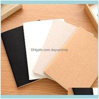 Notlar Not Defteri Malzemeleri İş İş SanayiDiy Vintage Boş Dizüstü Sketchbook Dergisi Kraft Kağıt Çocuklar için Grafiti Boya D Ofis Scho