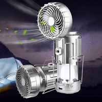 Portable Lanterns Camping Light Solar LED Tent USB Rechargeable Bulb For Outdoor Hiking Lamp Emergency Lights With Fan
