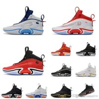 Retro mens Jumpman 36 xxxvi basketball shoes kids aj36 sneakers Tatum Kia Nurse Guo Ailun White Blue Red what the lebron 18 tennis with box