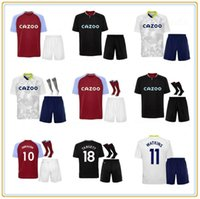 20 21 Aston Soccer Jerseys Grealish Villa El McGinn Men Kit Kit Ghazi Orahane M.Trezeguet Watkins Wesley Uniformi Camicie da calcio