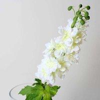 Dekorative Blumen Kränze Hersteller Verkauf von hochwertiger dekorativer Großhandel Supply Seide Tuch Simulation Blume Delphinium PS97