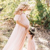 Maternity Dresses Lace Wedding Dress Pregnancy Women Maxi Gown Pregnant Baby Shower Po Shoot Pography Props Clothing Summer