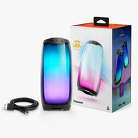 Dropship JHL Pluse 4 Mini Portable Bluetooth Wireless Speakers 4Colors with LED Light Speaker In Stock