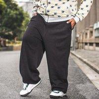 Erkek Pantolon Anpoetchy Marka Hip Hop Joggers Erkekler Sweatpants Sıcak Polar Gevşek Baggy Harem Pantolon Artı Boyutu L-4XL Ağırlık 60-150 kg