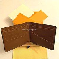 2021 أعلى جودة عالية مصممي المصممين محافظ حامل البطاقة فرنسا باريس منقوشة نمط رجل المرأة الراقية محفظة مع مربع