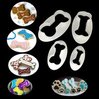 Baking Moulds 4PCS Creativity Dog Bone Cookie Cutter Biscuit Fondant Pastry DIY Cake Mold Kitchen Supplies
