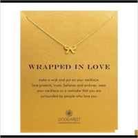 & Pendants Jewelry Drop Delivery 2021 Brand Dogeared Choker Necklaces With Card Gold Circle Elephant Pearl Love Wings Cross Pendant Necklace