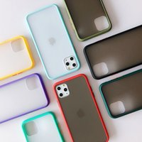 Mat telefon kılıfları iphone 11 12 pro xs max xr Samsung S20 S10 Temizle Hard Case Darbeye Şeffaf Zırh Kapak Opp Torba