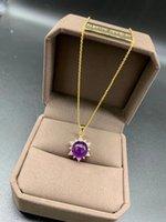 Amatista natural esférico creativo púrpura colgante HPQN