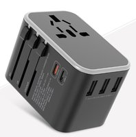 Dual Type C PD Charger QC USB All in one Wall chargers adapter with EU US UK AU plug universal travel power adapters sockets