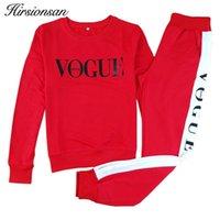 Otoño invierno disfraces mujeres conjunto de dos piezas vogue sportswear traje casual chándal largo manga larga sporting trayendo tendencia