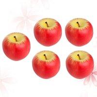 هدية عيد الميلاد الاصطناعي شموع الفاكهة محاكاة شكل التفاح مع مربع لحفل الزفاف decoartion - حجم s