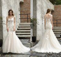 Сексуальные спинки русалки свадебные платья свадебные платья свадебные платья кружева без рукавов элегантный