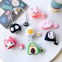 Silicone USB Date Line Protector cable Earphone Cord Protection Sleeve Wire Cover charer protective Case Charging protectors