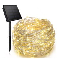 LED Solar Light Outdoor Lamp String Christmas Waterproof Copper Wire 8 Modes Fairy Bright Lights for Garden Patio Tree Wedding Party
