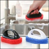 Household Tools Housekee Organization Home & Gardethroom Kitchen Handle Scouring Pads Cleaning Brush Sponge Ceramic Wall Glass Clean Sponges
