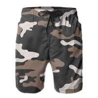 Mens Pants Brown Camouflage Surfing Beach Board Swim Trunks Sport Quick Dry Mesh Graphic Rhodesia Shorts for Boy