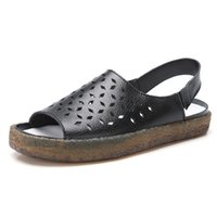 Sandals Women Fashion Flat Ladies Shoes Genuine Leather Casual Female Flip Flops Plus Size Zapatos De Mujer
