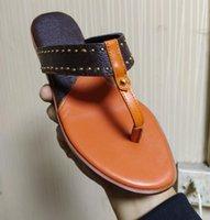 Женская кожаная плоская тапочка летняя студия стрит слайд сандалии дизайнер леди холст ремни резиновая подошва флип флоп