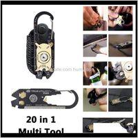 Gadgets Fixr Açık Spor Taşınabilir Yardımcı Pocket 20 in 1 Çok İşlevli Anahtarı Tornavida Açıcı EDC Survival Anahtarlık Aracı Toptan Toptan 98EOI