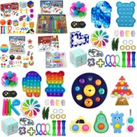 Fidget Advent Calendar Mystery Box Christmas Countdown Blind Toy Boxes Kids Children Gifts Push Puzzle Spinner Key Ring Marble Mesh Squishy
