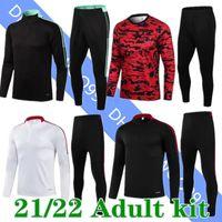 2021 2022 맨체스터 축구 훈련 착용 호나우두 산초 B. Fernandes United Utd Rashford Van de Beek 21 22 Humanrace Long Sleevr Uniform Sweatsuits