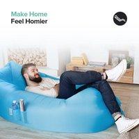 Licht schlafsack wasserdichte aufblasbare faule sofa camping taschen air bett erwachsener strand lounge stuhl schnelle faltung