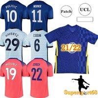 21 22 축구 유니폼 CFC 축구 셔츠 Kante Giroud Pulisic Man Werner Mount Ziyech Lampard Kids Havertz Kit T. Silva Abraham Set Chilwell
