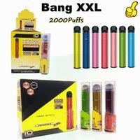 Высококачественное обещание Bang XXL электронная сигарета 800 мАч литиевая батарея одноразовая ручка с ручкой из дерева 6,0 мл масло 2000 детенышими испарителями 24 цвета