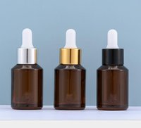 Storage Bottles & Jars 30ml Brown Amber Glass Essential Oil Serum Bottle 1oz Empty Cosmetic Container Refillable Dropper SN858